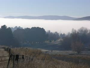 Morning mist in Adaminaby