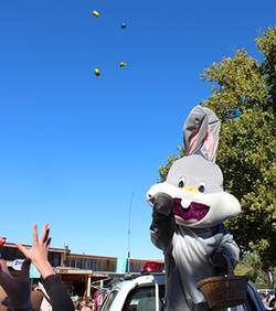 Easter Bunny at Adaminaby Easter Fair