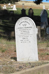 Emily Osmond's Headstone