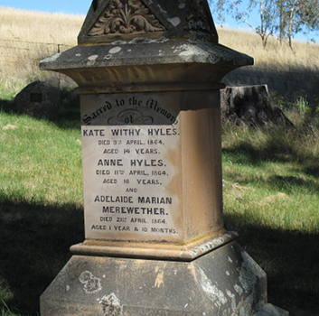 Kate and Anne Hyles' Headstone