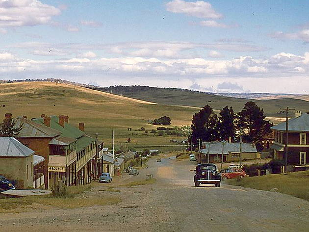 Old Adaminaby in 1956 before Lake Eucumbene