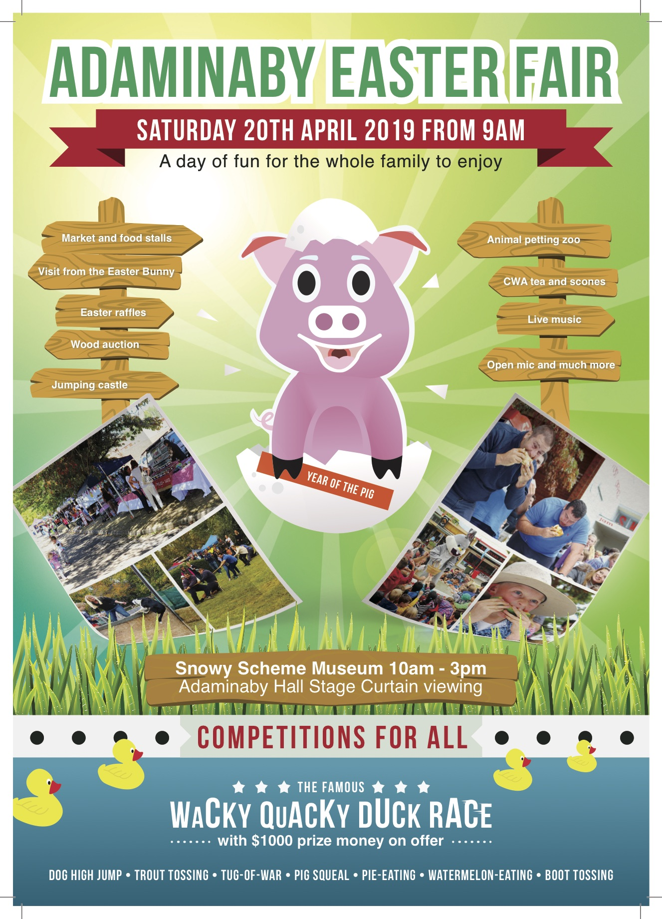 HQ100 ADAMINABY EASTER FAIR A4 POSTER