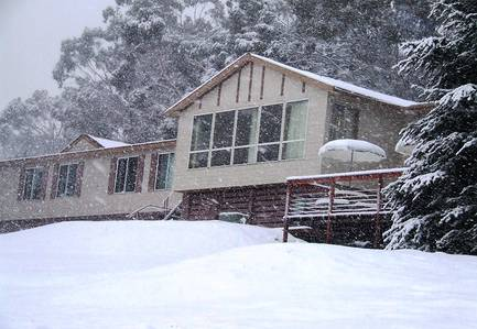 Cool Mountain Lodge in the snow