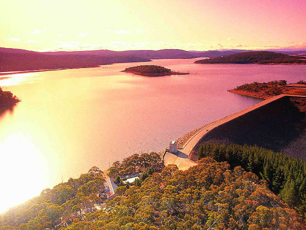 Sunset over Eucumbene Dam